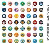 travel icons | Shutterstock .eps vector #636404579