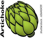 an image of a artichoke. | Shutterstock .eps vector #63640459