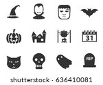 halloween web icons for user... | Shutterstock .eps vector #636410081