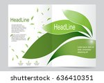 green leaf cover template... | Shutterstock .eps vector #636410351