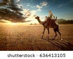 Bedouin On Camel Near Pyramids...