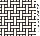 interlacing lines maze lattice. ... | Shutterstock .eps vector #636420539