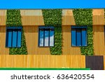 Wall Of Modern Building Wooden...