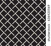 seamless woven stripes lattice... | Shutterstock .eps vector #636420569