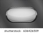 white oval button with chrome... | Shutterstock .eps vector #636426509