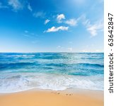 beach and sea | Shutterstock . vector #63642847
