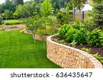 natural landscaping with... | Shutterstock . vector #636435647