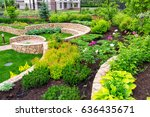 natural landscaping with...   Shutterstock . vector #636435671