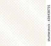 vector seamless subtle pattern. ... | Shutterstock .eps vector #636438731