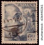 Spain Circa 1957  A Stamp Show...