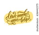vector illustration.lettering.... | Shutterstock .eps vector #636441575
