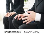 business persons meeting at... | Shutterstock . vector #636442247