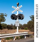 A Railway Crossing Signal In...