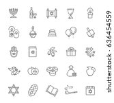 outline icon collection  ... | Shutterstock .eps vector #636454559