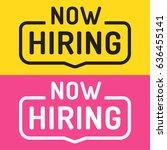 now hiring. flat vector set... | Shutterstock .eps vector #636455141