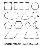 geometric shapes square  circle ... | Shutterstock .eps vector #636457265