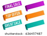sale and discount price badge... | Shutterstock .eps vector #636457487