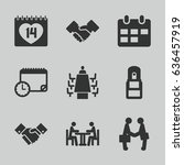 meeting icons set. set of 9... | Shutterstock .eps vector #636457919