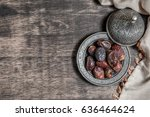 date palm for ramadan  | Shutterstock . vector #636464624