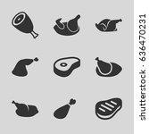 roast icons set. set of 9 roast ...   Shutterstock .eps vector #636470231