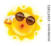 summer sun feeling hot and... | Shutterstock .eps vector #636471851