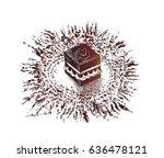 holy kaaba in mecca saudi... | Shutterstock .eps vector #636478121