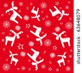 christmas and new year seamless ... | Shutterstock .eps vector #63648079