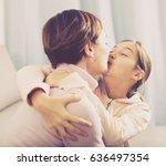daughter asks for forgiveness... | Shutterstock . vector #636497354