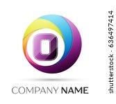 letter o logo symbol in the... | Shutterstock . vector #636497414