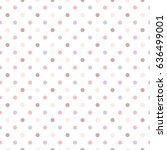 seamless pattern of pastel dot... | Shutterstock .eps vector #636499001