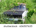 crack car and plants | Shutterstock . vector #636507635
