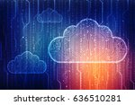 2d rendering cloud computing ... | Shutterstock . vector #636510281