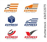 express delivery service logo... | Shutterstock .eps vector #636512075