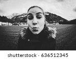 girl on a field in broc ...   Shutterstock . vector #636512345