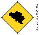 belgium map road in yellow ... | Shutterstock . vector #63651586