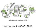 modern flat thin line design... | Shutterstock .eps vector #636517811