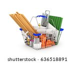 building materials in the... | Shutterstock . vector #636518891