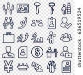 businessman icons set. set of... | Shutterstock .eps vector #636519524