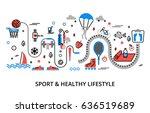 modern flat editable line... | Shutterstock .eps vector #636519689