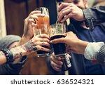craft beer booze brew alcohol... | Shutterstock . vector #636524321
