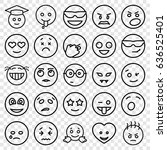 emotion icons set. set of 25... | Shutterstock .eps vector #636525401