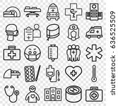 doctor icons set. set of 25... | Shutterstock .eps vector #636525509