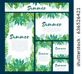 set of six different web design ... | Shutterstock .eps vector #636526421