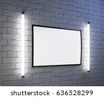 mock up blank poster picture... | Shutterstock . vector #636528299