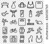 fitness icons set. set of 25