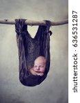 Little Newborn Baby Sleeping In ...