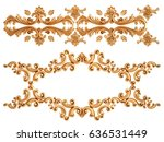 gold ornament on a white... | Shutterstock . vector #636531449
