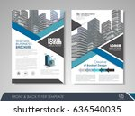 blue annual report brochure... | Shutterstock .eps vector #636540035