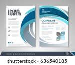 blue annual report brochure...   Shutterstock .eps vector #636540185