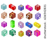 isometric boxes isolated on... | Shutterstock .eps vector #636542831